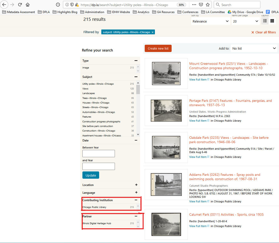 Coordinated subject terms in the DPLA catalog